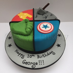 Marvel Superhero birthday cake
